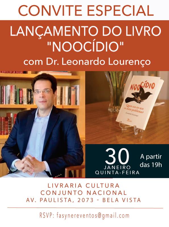 Dr Leonardo Lourenço lança livro Noocídio