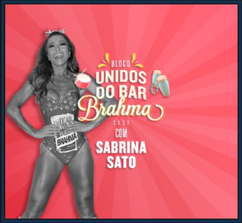 Sabrina Sato no Bloco Unidos do Bar Brahma