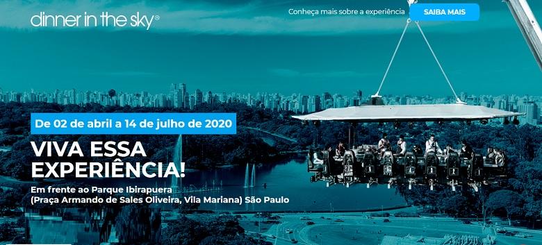 Dinner in the Sky evento confirmado em São Paulo