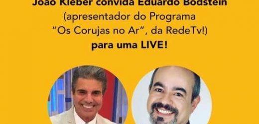 """Vamos rir! João Kleber  faz live com Eduardo Bodstein """"Os Corujas no Ar"""""""