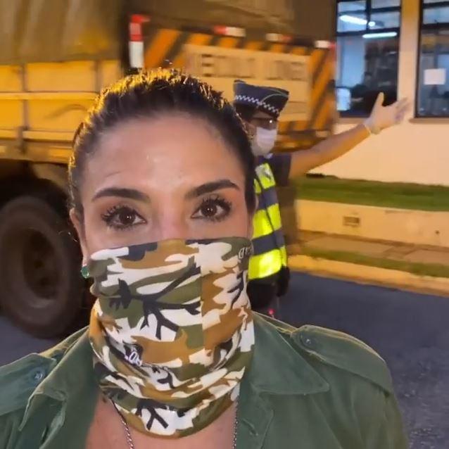 Lydia Sayeg em dia de solidariedade