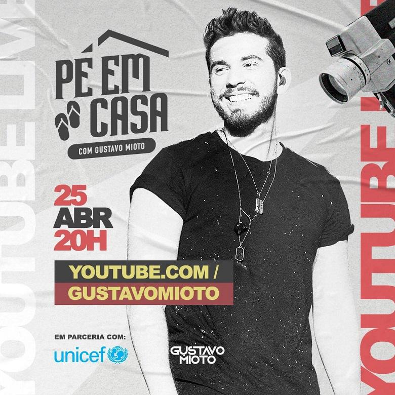 Gustavo Mioto fará live com UNICEF