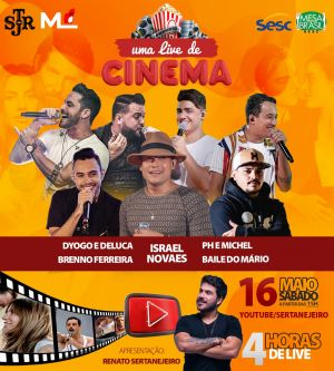 Renato Sertanejeiro apresenta live de cinema