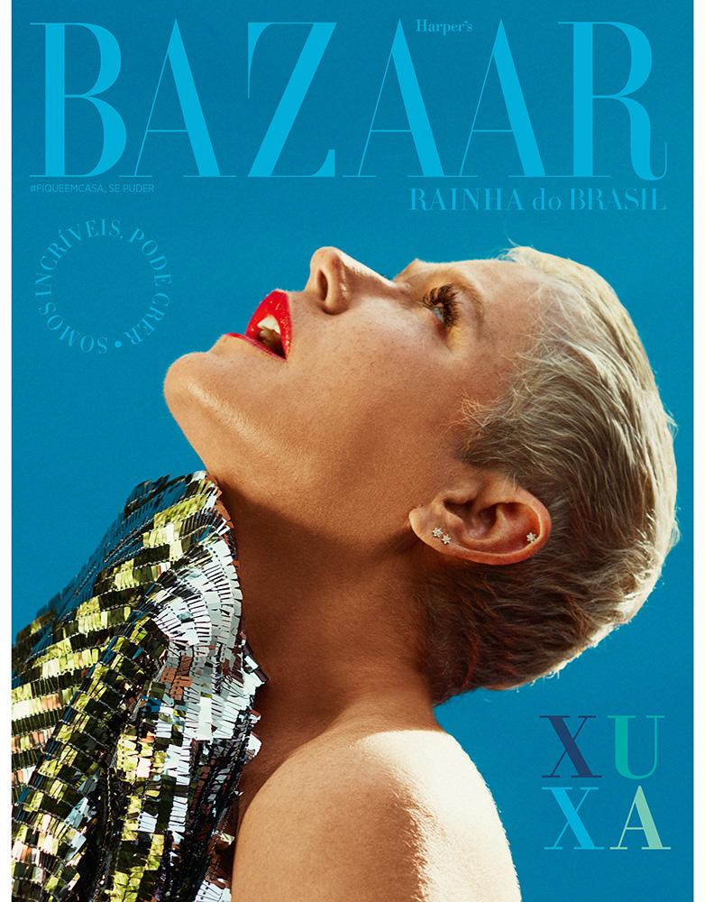 Xuxa é a capa da Harper's Bazaar
