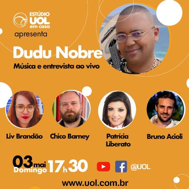 Live de Dudu Nobre  domingo (03)