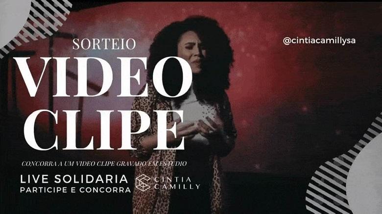Live Solidária com a Cantora Cintia Camilly & Quartet