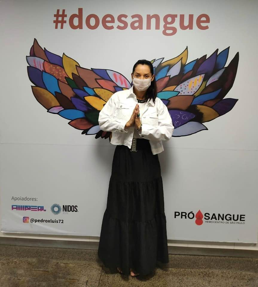 Mônica Carvalho participa de Campanha para doação de sangue