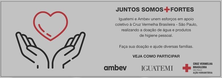 Iguatemi e Ambev juntas em apoio à Cruz Vermelha Brasileira