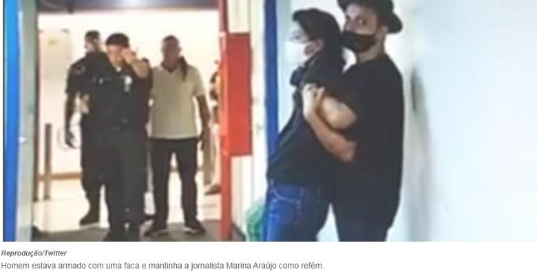 Homem armado invade a Globo Rio chama por Renata Vasconcelos