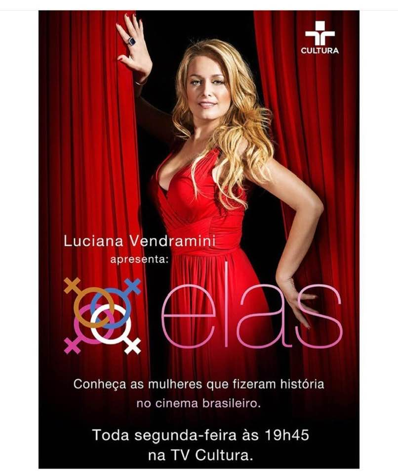 "Luciana Vendramini apresenta ""Elas"" na TV Cultura"