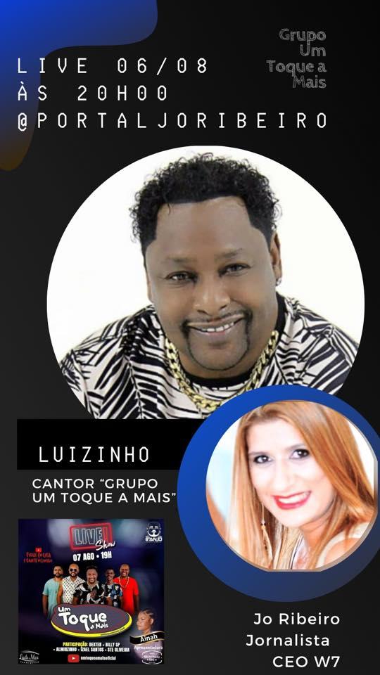 Live com cantor Luizinho Grupo Um Toque a Mais