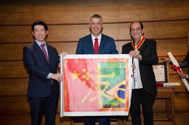 Orlando Chiquetto recebeu diploma e medalha na Comemoração de 120 anos Imigração Chinesa Brasil