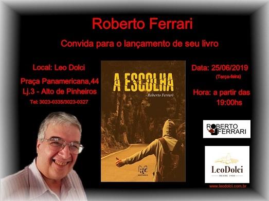 Roberto Ferrari ganhou o Troféu Literatura 2020 da Editora ZL Books
