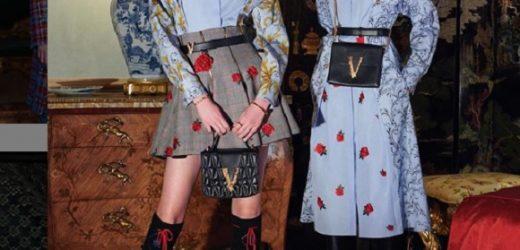 Versace: Novas roupas de trabalho românticas da coleção