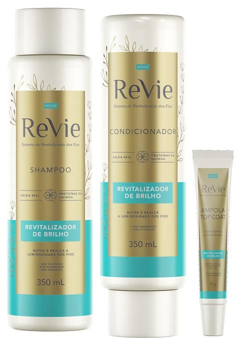 Revie oferece brilho, maciez e força cabelos