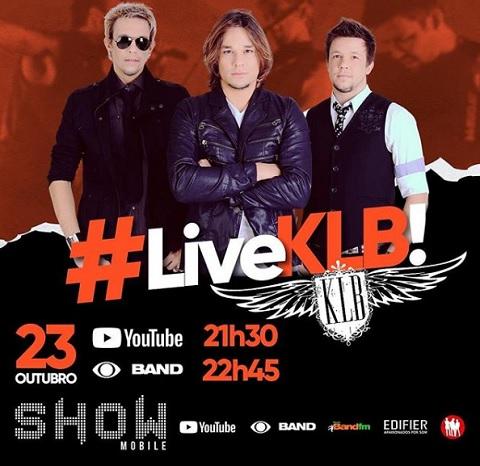 KLB fará live de sucessos sexta (23)
