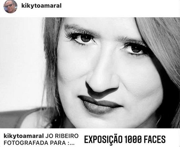 Jornalista Jo Ribeiro fotografada para exposição 1000 faces de Kikyto Amaral