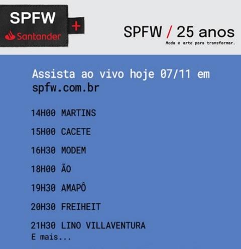 SPFW 25 anos – Moda e arte para transformar