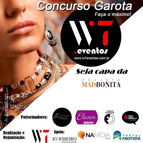 A modelo Pietra Carreira foi eleita Garota W7 Eventos on line 2020
