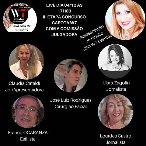 Live III Etapa do Concurso Garota W7 Eventos