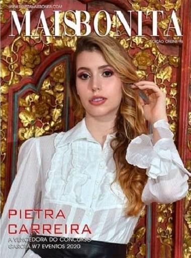 A capa da Revista MaisBonita Pietra Carreira é a vencedora Garota W7 Eventos