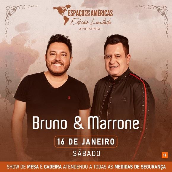Bruno e Marrone voltam aos palcos no próximo dia 16/01