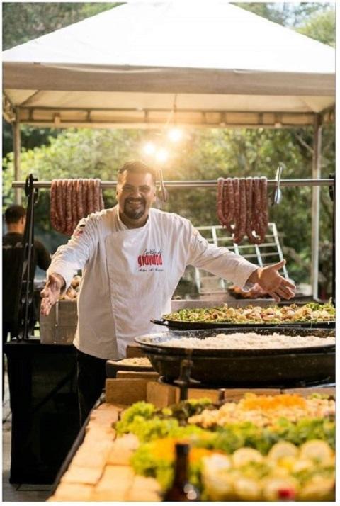 O espaço da Komblue mais uma vez presente com a participação do chef Adan Garcia Festival Vila na Praia