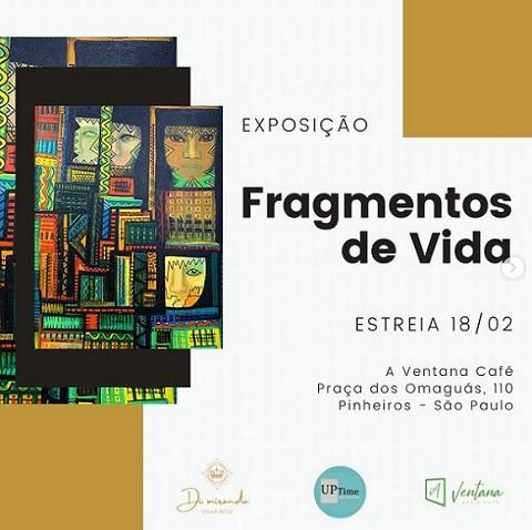 Fragmentos de Vida: exposição de arte gratuita dia 18/02