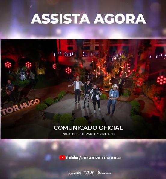 """Diego e Victor Hugo lançam """"Comunicado Oficial"""" com participação de Guilherme e Santiago dia 26"""