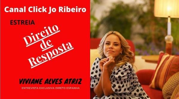 Atriz Viviane Alves Estreia quadro ''Direito de Resposta'' dia 12/02, no Canal Click Jo Ribeiro/Youtube