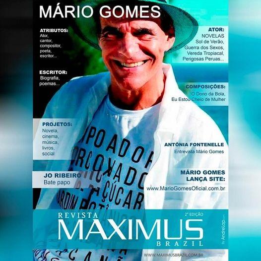 O Ator Mário Gomes estreia a 2.º edição da Capa Revista Maximus
