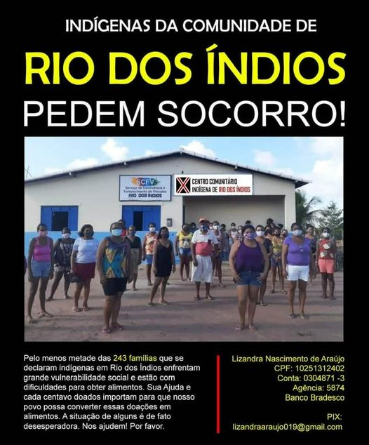 Thiago Cóstackz apoia o coletivo indigenas do vale pede ajuda