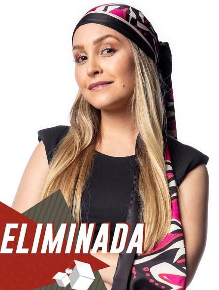 Carla Diaz acabou eliminada e perdeu o prêmio de R$ 1,5 milhão