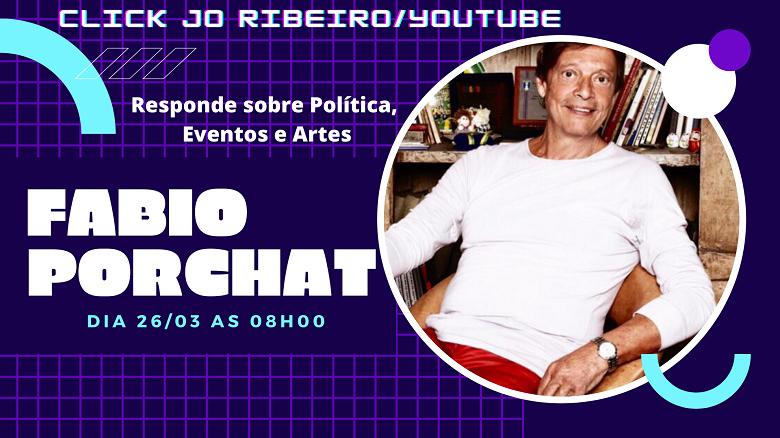 Canal Click Jo Ribeiro: Fabio Porchat responde sobre Política, Eventos e Artes