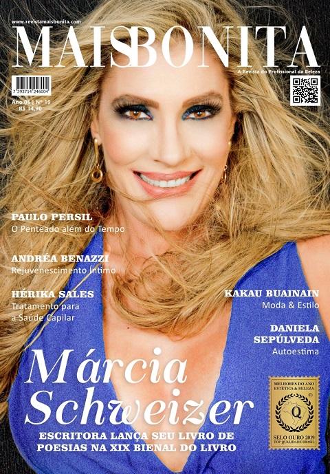 Márcia Schweizer é a capa Revista MaisBonita da 19ª edição versão impressa