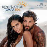 Jesus Luz e esposa estreiam campanha de protetor solar da Amakha Paris