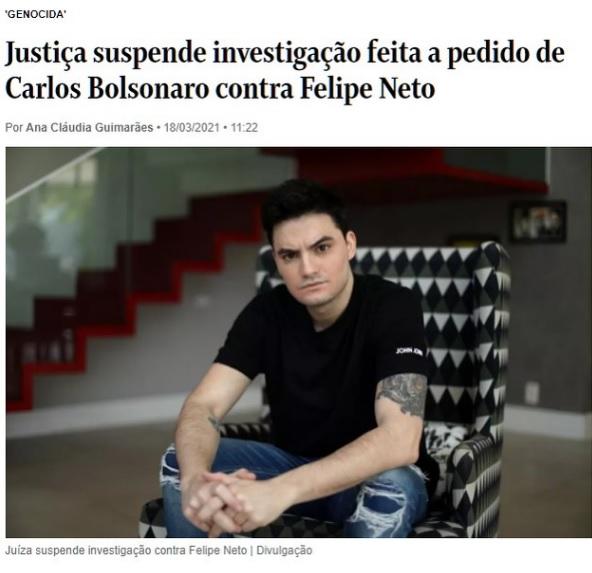 O Caso Felipe Neto e Liberdade de expressão