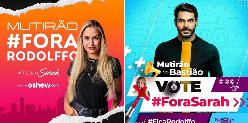 BBB21: Rodolffo tenta achar motivos para que Sarah seja eliminada