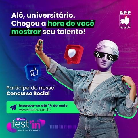 APP Ribeirão: Últimos dias de inscrição para o Fest'in