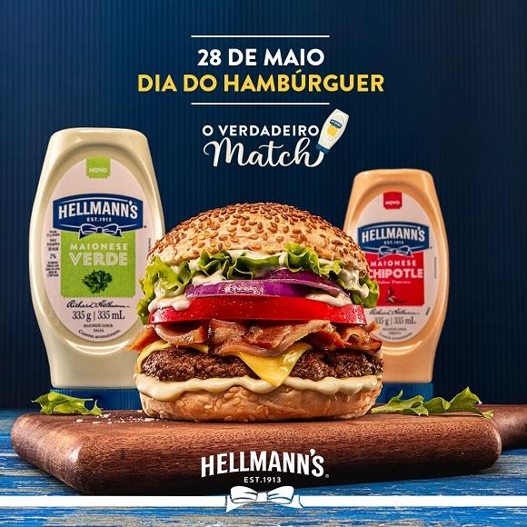 Dia do Hambúrguer: Hellmann's estreia campanha O Verdadeiro Match com os novos sabores na versão squeeze