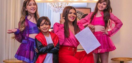 Mara Maravilha e atores de 'A Aventuras de Poliana' participam de novo clipe do trio H2M