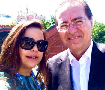 Senador Renan Calheiros e sua amada Verônica comemoram as Bodas de Rubi