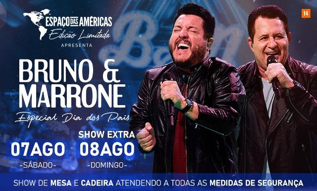 Espaço das Américas: Bruno & Marrone de volta ao palco